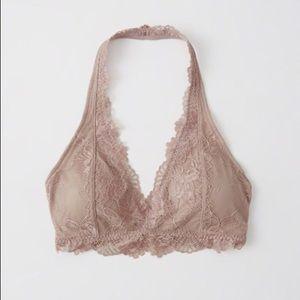 Abercrombie & Fitch Lace Halter Bralette